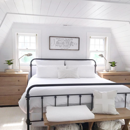 a Stearns & Foster Lux Estate Hybrid mattress is a styled bedroom by angelarose_diyhome